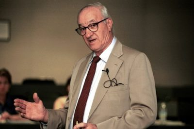 1999 Emotional Intelligence Conference, Albert Bandura, professor of psychology. Credit: Linda A. Cicero / Stanford News Service