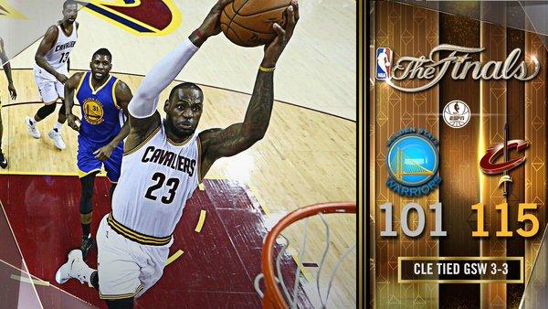 Finales NBA: Un estratosférico Lebron James fuerza el séptimo