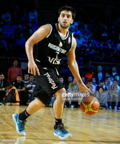 BUENOS AIRES, ARGENTINA - AUGUST 9: Facundo Campazzo of Argentina in action during a match between Argentina and Mexico as part of the second round of Hope Funds Three Nations at Tecnopolis on August 9, 2014 in Buenos Aires, Argentina. (Photo by Gabriel Rossi/LatinContent/Getty Images)