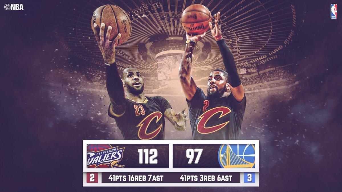 NBA finales: los Cavs vencen a los Warriors y llevan la serie al sexto partido