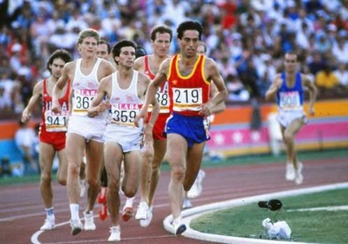 Corriendo por Los Ángeles 84. Por Manu Redonda