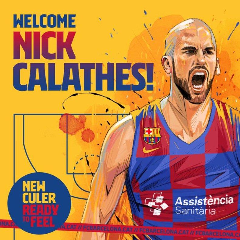 Actualidad FC Barcelona. Nick Calathes. Asistencias a ritmo de dobles figuras.Por Roberto González Rico.