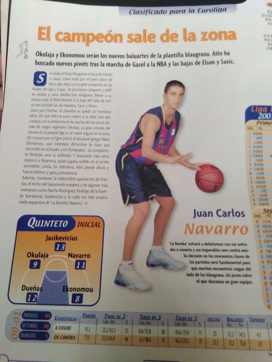FC Barcelona Basket siglo XXI. Temporada 2001-02. Duro año de transición tras el adiós de Pau Gasol. Por Roberto González Rico.